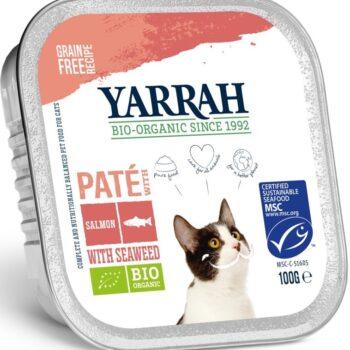økologisk mat for katter med laks fra Yarrah