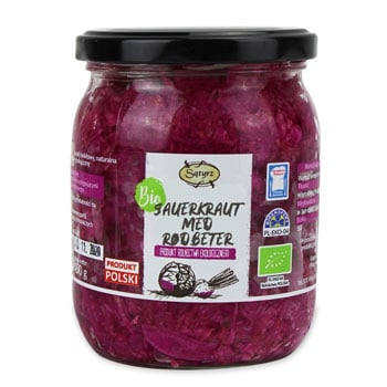 Økologisk sauerkraut med rødbeter 450g
